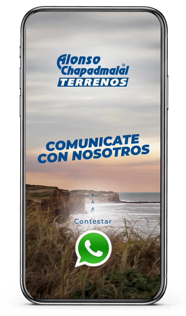 Contacto Whatsapp Alonso Chapadmalal Terrenos